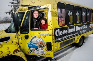 Brian P. McCafferty and Leslie Basalla of the Cleveland Brew Bus